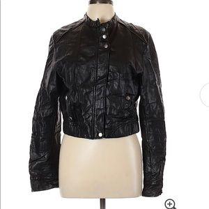 LC Lauren Conrad Black Full Zip Moto Jacket XS